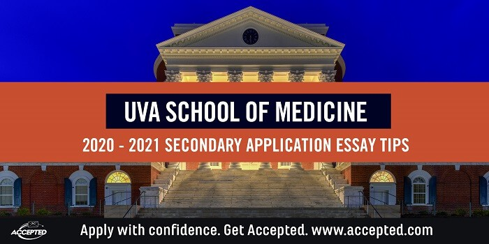 UVA School of Medicine secondary application essay tips