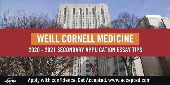 Weill Cornell Medicine secondary essay tips