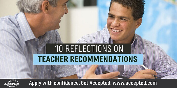 10 reflections on teacher recommendations
