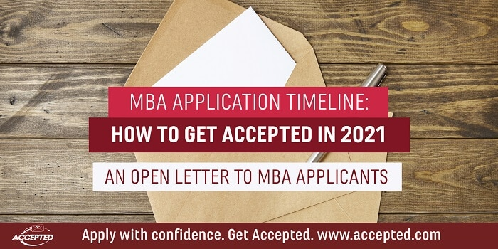 MBA application timeline 2021