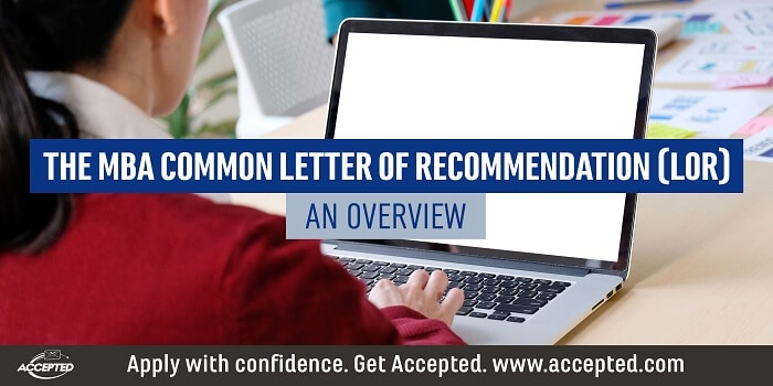 The MBA Common Letter of Recommendation