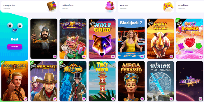 Play the best online casino games out there!