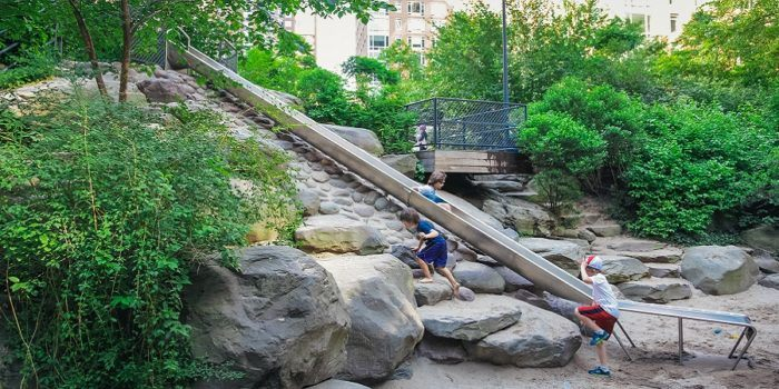 Teardrop park is a nyc playground in lower manhattan