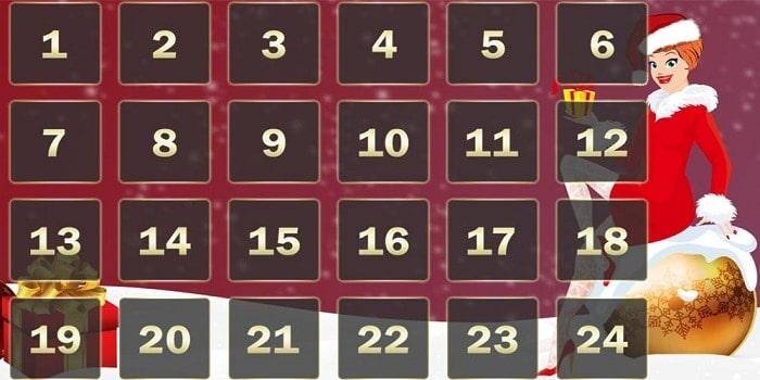 Christmas Bonus Calendar for Online Casinos