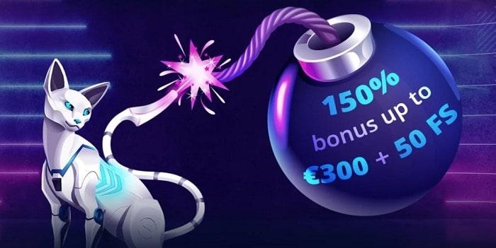 $300 Free Bonus and 50 Gratis Spins