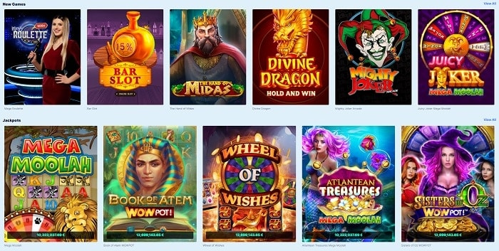 Play best online slots with jackpots!