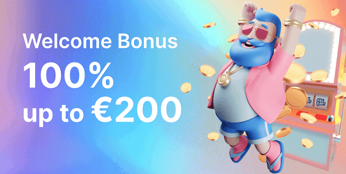 Get 100% bonus and 200 free spins now!
