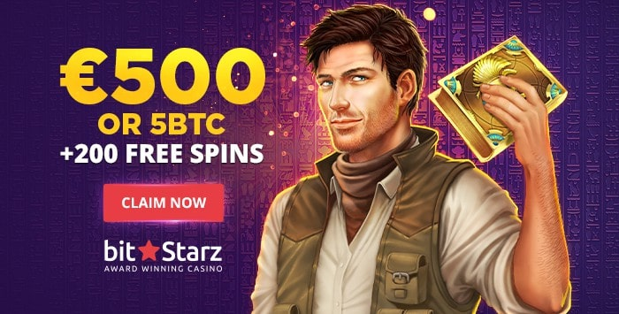 5 BTC and 200 free spins