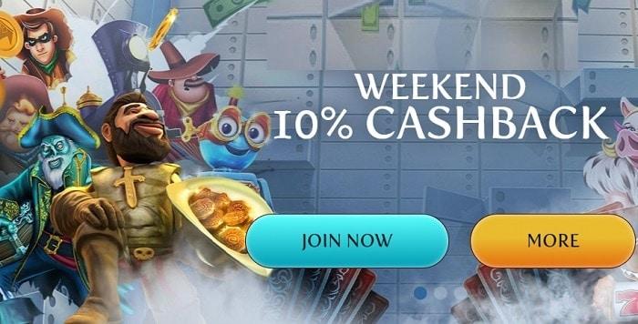 10% Cashback Weekend