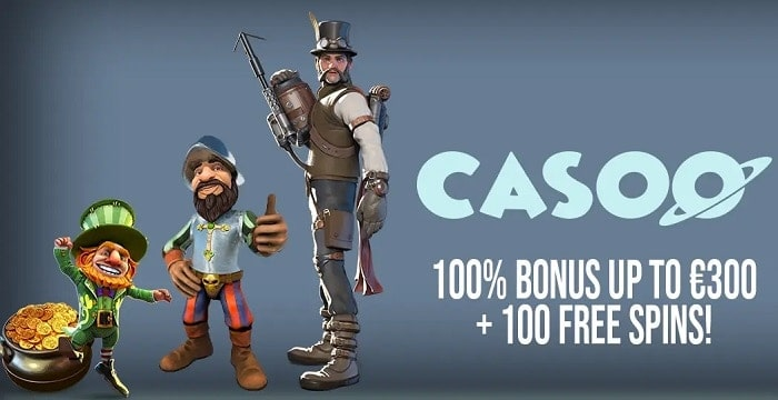 100% up to 300 EUR and 100 Free Spins