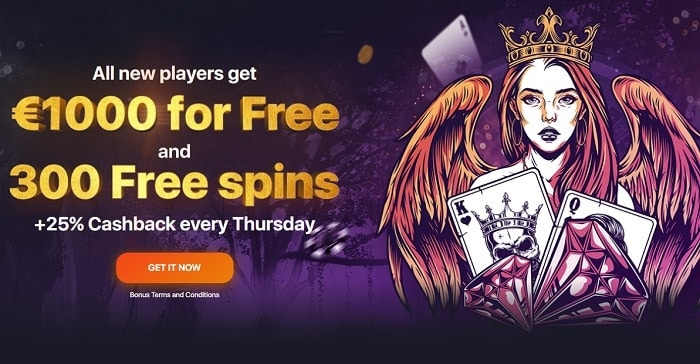 Get 1000 EUR and 300 free spins now!
