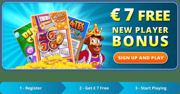 7 EUR free cash no deposit bonus