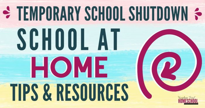 Temporary School at Home Tips & Free Resources