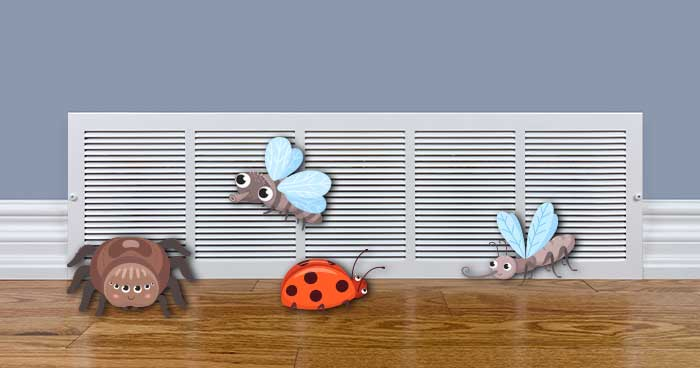 Keep Bugs From Coming Through Air Vents with some of these easy tips.