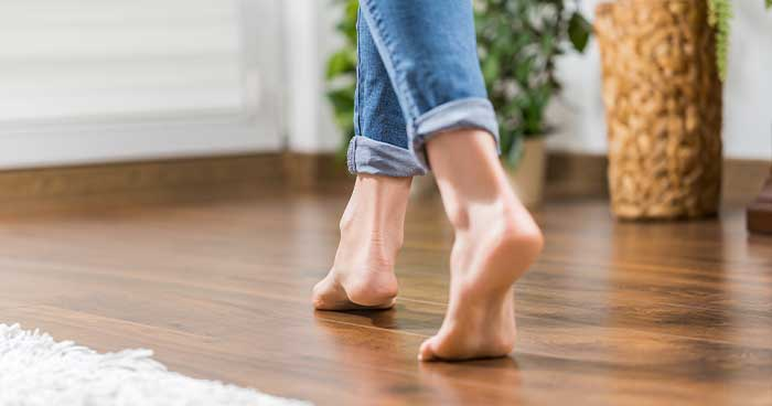 These leaks can cause warm spots on your floor.