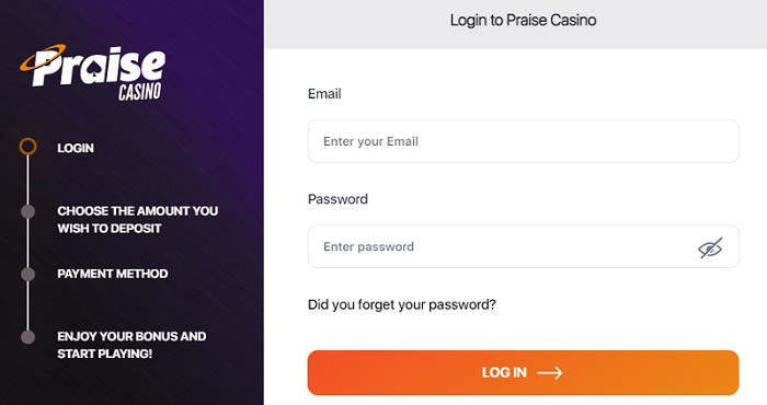 Register your account with the Praise Game
