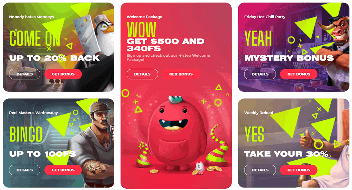 Bonuses, Promotions, Free Spins