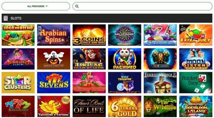 Brazino Casino games and software