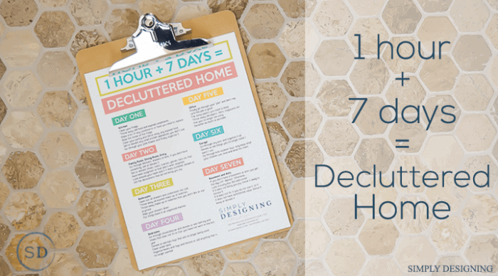 7 Hours to a Decluttered Home