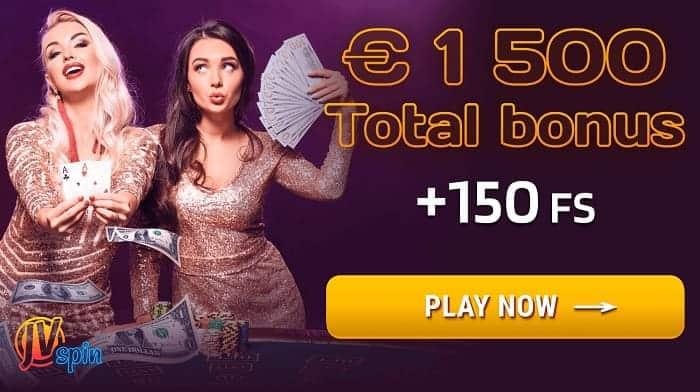 1500 EUR Bonus and 150 Free Spins
