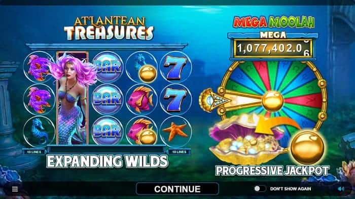 Atlantean Treasures Free Spins Bonus