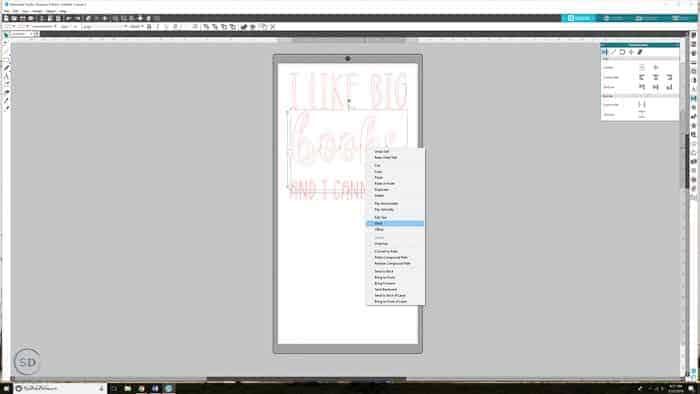 Silhouette Studio weld text
