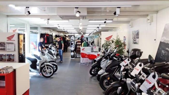 Motrradverkaufsraum Faber Wien