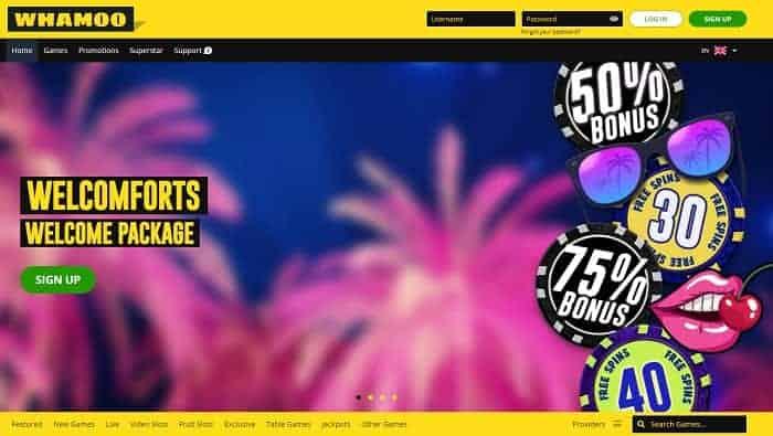 Whamo Casino Website Review