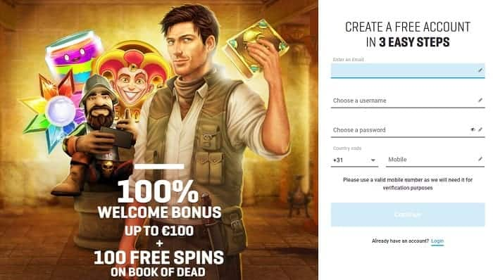 Register and Play Free Spins!