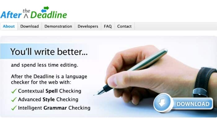 After the Deadline Proofreading tool