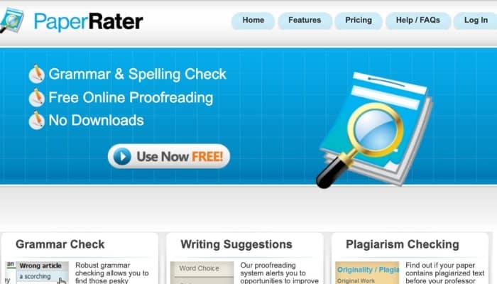 PaperRater - Free Online Proofreading Tool