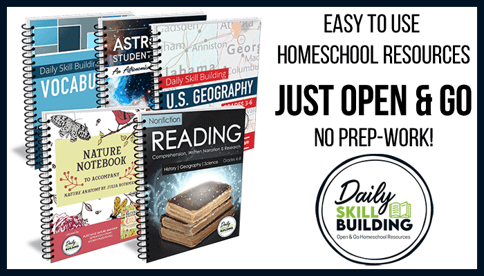 Open and go homeschool curriculum that is easy to use