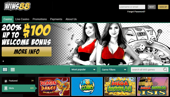 Get 200% bonus and free spins on deposit!