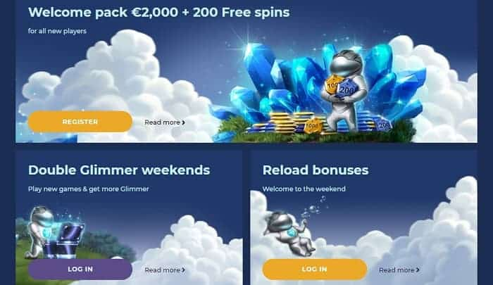 Welcome Pack and Daily Promotions