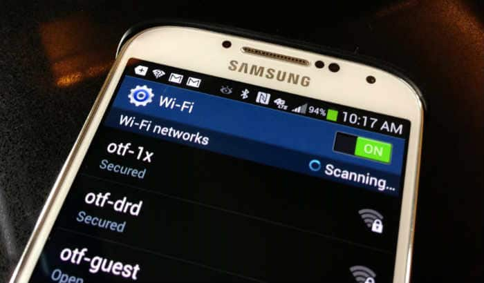 Samsung Galaxy J7 Wi-Fi switch is greyed out or disabled
