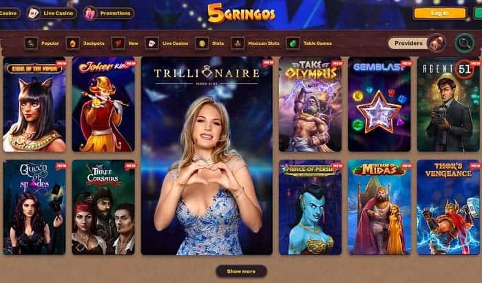 5 Gringos Live Dealer Free Bonuses