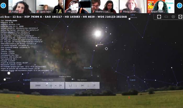 Taller de astronomía en la Fiesta de Otoño Bank of America Fundación También