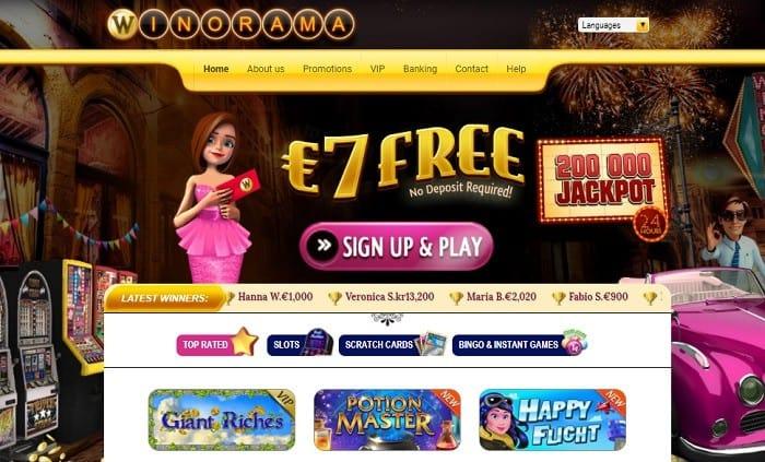 Winorama 7 EUR free