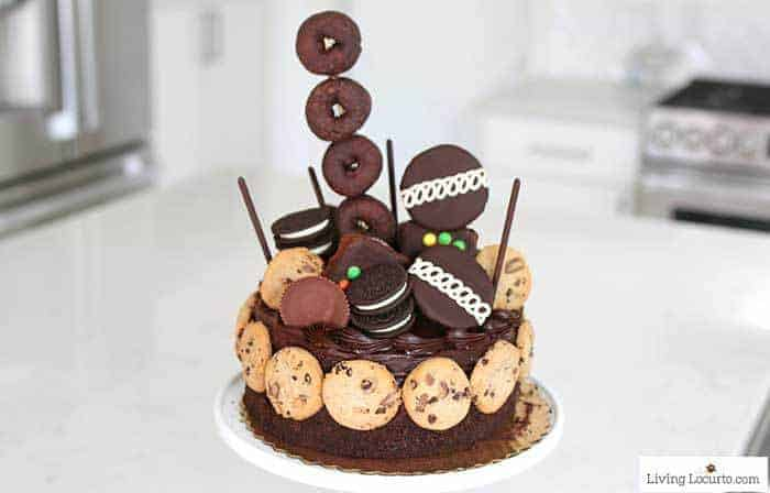 Make the Ultimate Chocolate Birthday Cake in minutes with this easy no bake dessert idea! A fun semi-homemade cake. 16th birthday party ideas.
