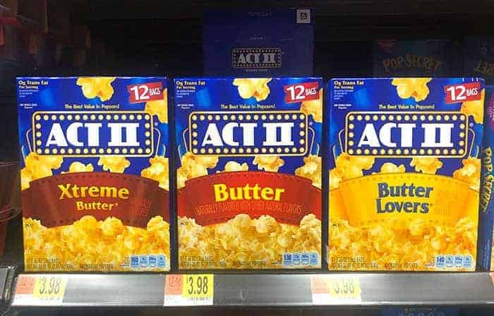 Spiderman Candy Popcorn - ACT II Microwave Popcorn from Walmart