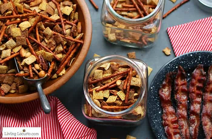 Easy Brown Sugar Bacon Chex Mix recipe.