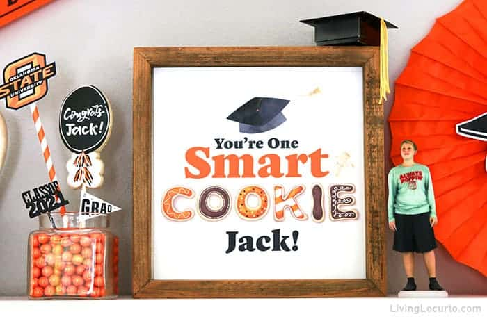 Graduation Party One Smart Cookie Sign