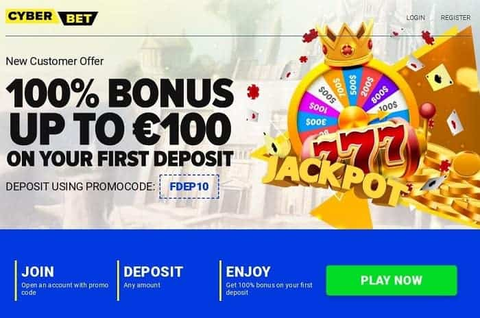 Get 100% up to 100 EUR and free spins!