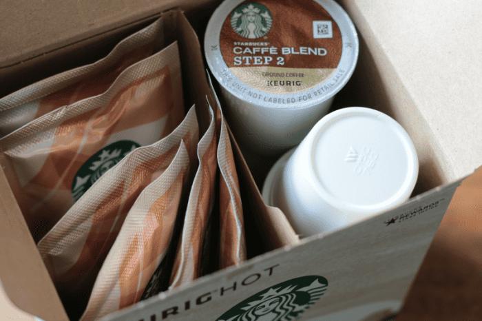 Starbucks Caffe Latte at home - box.