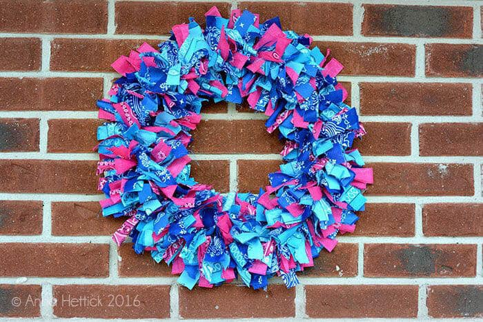 brick wall bandana wreath