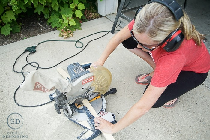 Using a compound miter saw to build a frame for a custom Baby Gate