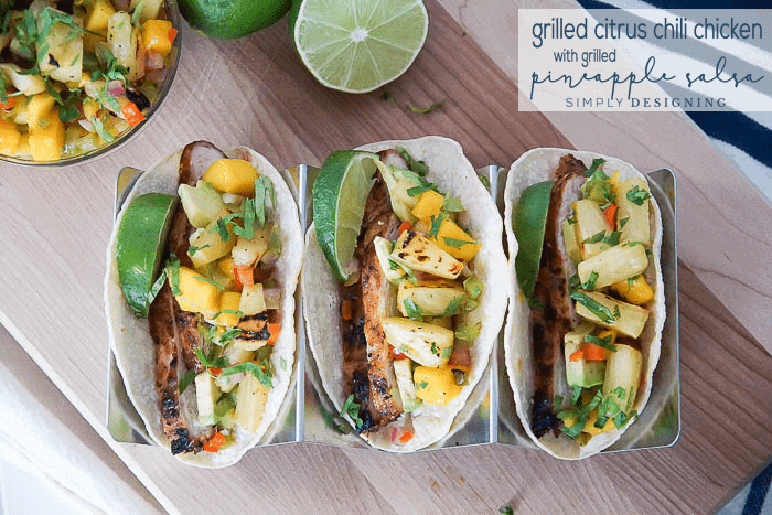 Grilled Citrus Chicken with Grilled Pineapple Salsa