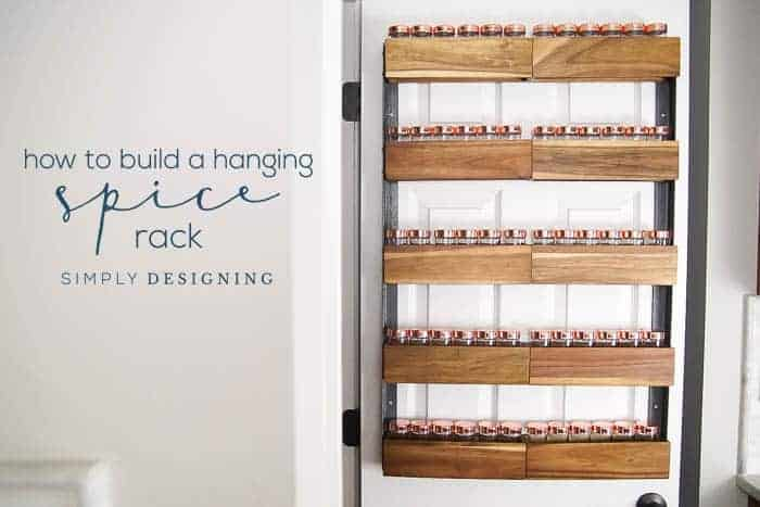 How to Build a DIY Hanging Spice Rack - the perfect farmhouse spice rack to hang on your pantry door