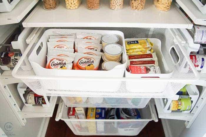 small pantry organization