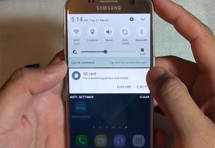What to do with Samsung Galaxy S7 Edge microSD card notification